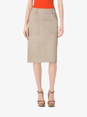 Michael Kors Collection Suede Utility Skirt