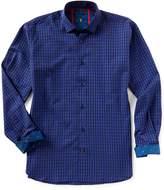 Visconti Check Jacquard Long-Sleeve Woven Shirt