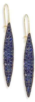 Ila Odette Blue Sapphire& 14K Yellow Gold Drop Earrings
