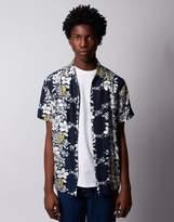 The Idle Man Pineapple Print Short Sleeve Shirt