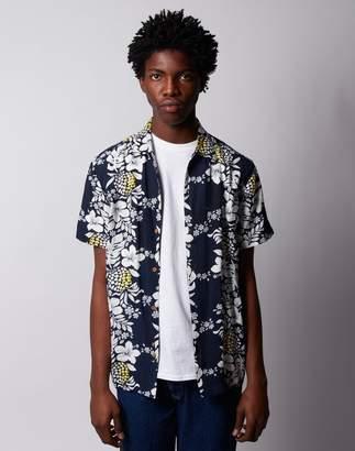 The Idle Man - Pineapple Print Short Sleeve Shirt