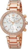 Akribos XXIV Women's AK529RG Diamond and Crystal Accented Swiss Quartz Crystal Chronograph Watch