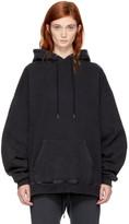 R 13 Black Oversized Hoodie