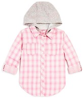Design History Girls' Hooded Plaid Button Down Shirt - Sizes S-XL