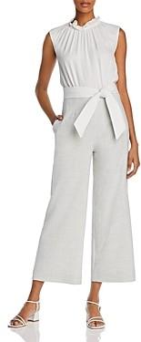 Rebecca Taylor Tailored Ruffled-Collar Tie-Waist Jumpsuit