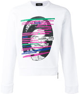 DSQUARED2 God Save the Dean sweatshirt - men - Cotton/Spandex/Elastane - XL