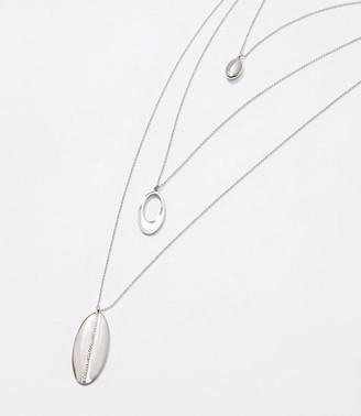 LOFT Metallic Layered Pendant Necklace