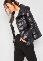 Missy Empire Louise Black Puffer Hoodie Coat