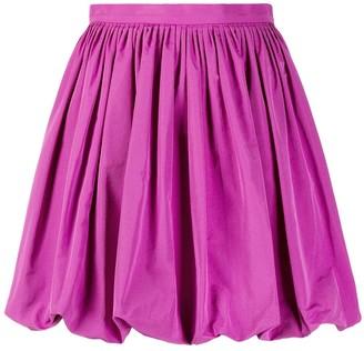 Valentino Pleated Bubble Hem Skirt