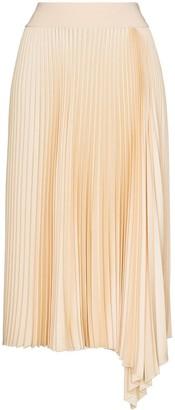 Joseph Sabin asymmetric pleated skirt