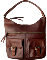 Fat Face Amelia Leather Shoulder Bag, Chocolate