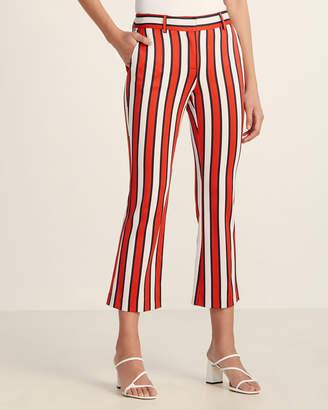 Atos Lombardini Shadow Stripe Cropped Pants