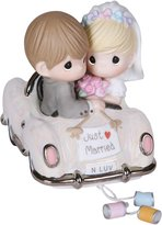"""Precious Moments 103018 Wedding Gifts, """"Just Married"""", Bisque Porcelain Figurine"""