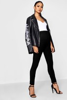 boohoo Maternity Leanne Basic Denim Look Jegging