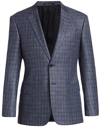 Emporio Armani Textured Check Jacket