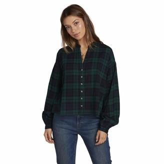 Volcom Women's Untamed Feels Boxy Long Sleeve Shirt - Green - Small