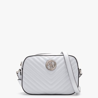GUESS Kamryn White Quilted Shoulder Bag