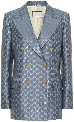 Gucci GG wool and silk lamA blazer