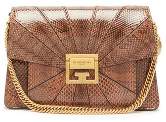 Givenchy Gv3 Small Snakeskin Cross-body Bag - Womens - Tan