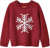 Joe Fresh Toddler Girls' Snowflake Print Sweater, Red (Size 5)