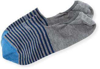 Marcoliani Milano Invisible Touch Striped No-Show Socks
