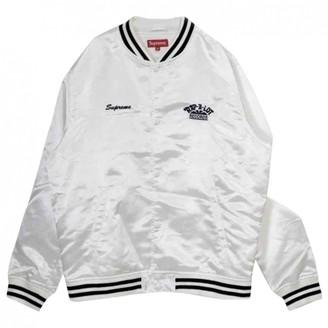 Supreme White Polyester Jackets