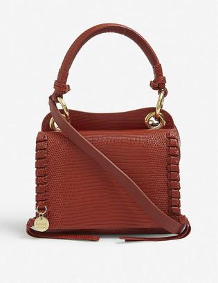 See by Chloe Tilda lizard-embossed mini leather cross-body bag