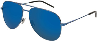 Saint Laurent Men's Classic Metal Aviator Sunglasses