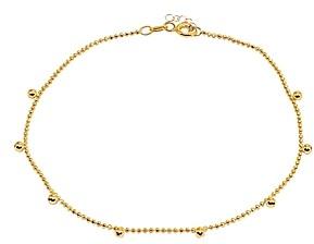 Aqua Bead Charm Ball-Chain Ankle Bracelet - 100% Exclusive