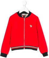 Paul Smith glittery detail bomber jacket - kids - Spandex/Elastane/Viscose/polyester - 4 yrs
