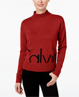 Calvin Klein Jeans Mock-Neck Logo Sweater