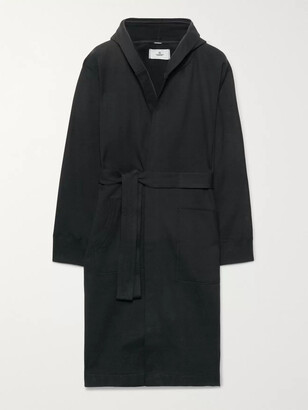 Reigning Champ Loopback Cotton-Jersey Hooded Robe - Men - Black