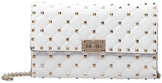 Valentino Rockstud Spike Leather Crossbody Clutch