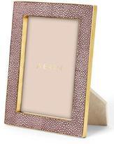 "AERIN Oxblood Embossed Shagreen Photo Frame, 5"" x 7"""