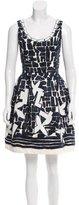 Oscar de la Renta Sequined A-Line Dress