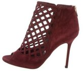Jimmy Choo Suede Caged Booties