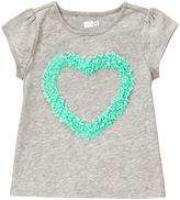 Crazy 8 Cozy Heather Gray Embroidered Heart Tee - Infant & Toddler