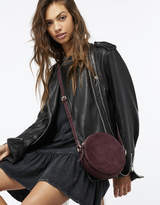 Accessorize Joey Suede Circle Cross Body Bag