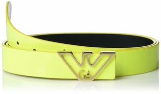 Emporio Armani Women's Neon Belt with Eagle Buckle