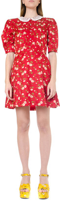 Miu Miu Daisy Bouquet Silk Dress