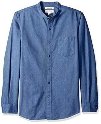 Goodthreads Men's Slim-fit Long-sleeve Band-collar Oxford Casual Shirt,Small