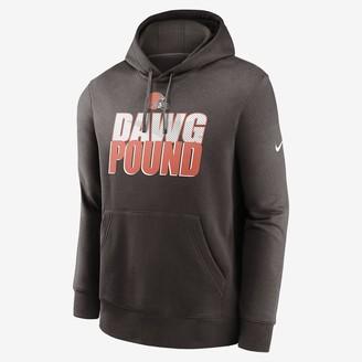 Nike Men's Pullover Hoodie Club Fleece (NFL Browns)