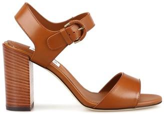Tod's Buckle Block Heel Sandals