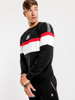 Le Coq Sportif Delroy Pullover Sweater in Black
