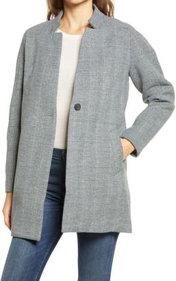 Joules Addington Herringbone Tweed Coat