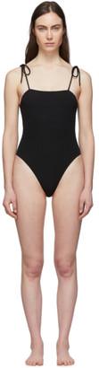 Le Petit Trou Black Strappy One-Piece Swimsuit
