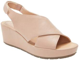 Me Too Leather Wedge Sandals - Arena