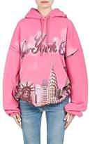 """Balenciaga Women's """"New York City"""" Cotton Terry Hoodie"""