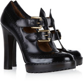 McQ by Alexander McQueen Cutout leather pumps