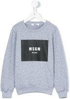 MSGM logo print sweatshirt - kids - Cotton - 6 yrs